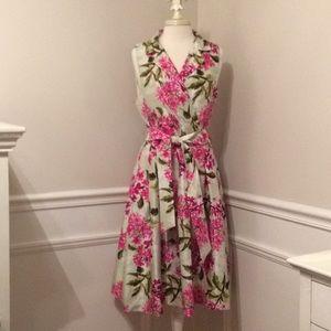 Jessica Howard Floral Sleeveless Dress